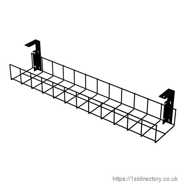 Black Cable tray With Small Brackets image