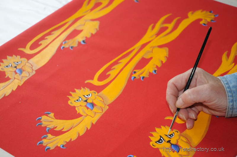 Hand-Painted Flag image