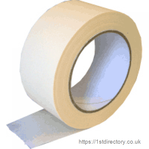 Masking tape, paper based sticky tape, easy to tear low tac adhesive. image