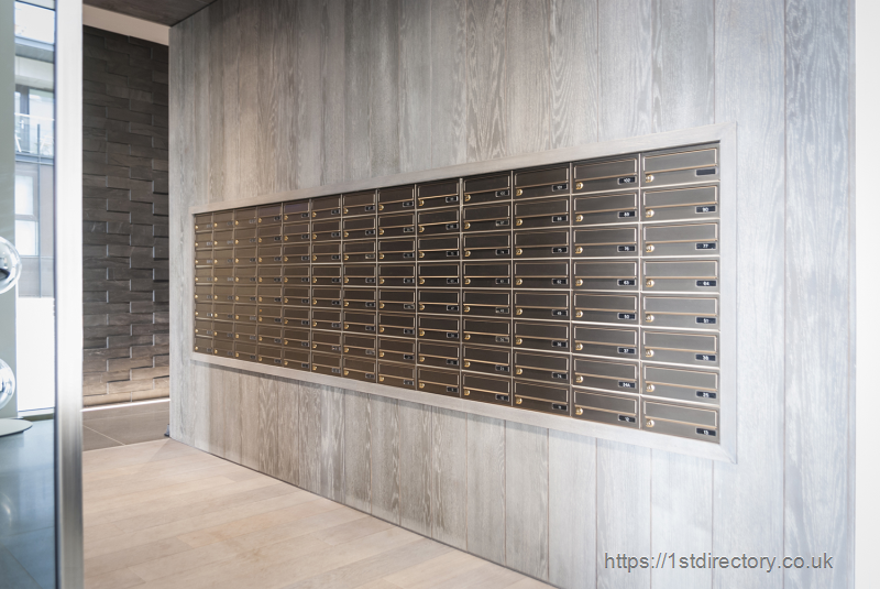 Multiple mailboxes for high-end residential building image