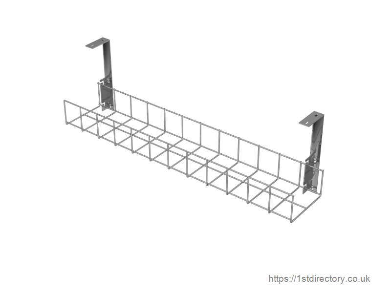 Silver Cable Tray With Large Brackets image