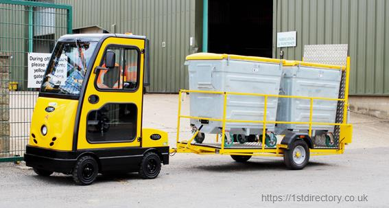 Wheelie Bin Transport - Bradshaw Electric Vehicles supplies a wide range of transport solutions for moving waste and recycling image