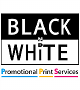 Black & White Promotional Print Services logo