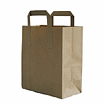 Brown Kraft Takeaway Bags image