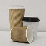 Kraft Brown Ripple Cup image