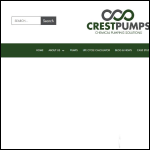 Screen shot of the Crest Pumps Ltd website.