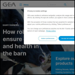 Screen shot of the GEA Farm Technologies (UK) Ltd website.