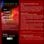 Screen shot of the John White Automation Ltd website.