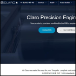 Screen shot of the Claro Precision Engineering Ltd website.