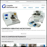 Screen shot of the Campden Instruments Ltd website.