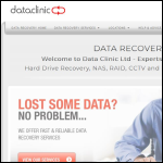 Screen shot of the Data Clinic Ltd website.