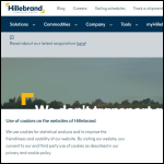 Screen shot of the JF Hillebrand UK Ltd website.