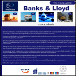 Screen shot of the Banks & Lloyd (Shipping) Ltd website.