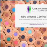 Screen shot of the Sabretooth Designs website.
