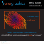 Screen shot of the Synergraphics Ltd website.