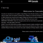 Screen shot of the Cascade Clamps UK Ltd website.