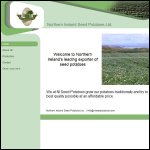 Screen shot of the Seed Potato Promotions (NI) Ltd website.