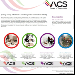 Screen shot of the ACS Testing Ltd website.