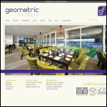 Screen shot of the Geometric Furniture Ltd website.