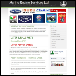 Screen shot of the Marine Engine Services Ltd website.