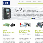 Screen shot of the IMO Precision Controls Ltd website.