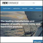 Screen shot of the Tek Tanks website.