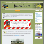 Screen shot of the Yorkleen Ltd website.