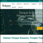 Screen shot of the Datum Electronics Ltd website.