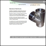 Screen shot of the Petrofit Ltd website.