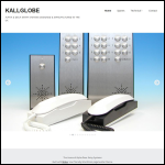 Screen shot of the Kallglobe Ltd website.