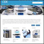 Screen shot of the CEM Microwave Technology Ltd website.