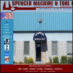 Screen shot of the T Spencer Machinery website.