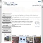 Screen shot of the Abachem Engineering Ltd website.