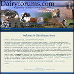 Screen shot of the DairyFORUM website.