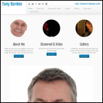 Screen shot of the Burden, Tony website.