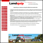 Screen shot of the Landquip Ltd website.