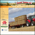 Screen shot of the Ancroft Tractors website.
