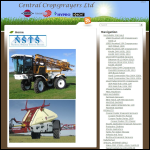 Screen shot of the Central Crop Sprayer Services website.