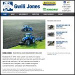 Screen shot of the Gwili, Jones & Sons website.