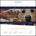 Screen shot of the Premier Nutrition Products Ltd website.
