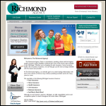 Screen shot of the Richmount Agencies website.