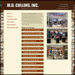 Screen shot of the M D Collins website.