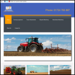 Screen shot of the BOM Agriquipment Sales website.