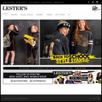 Screen shot of the Lesters website.