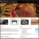 Screen shot of the Richard Lawson Pianos Ltd website.