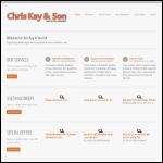 Screen shot of the Chris Kay & Son website.