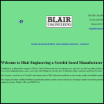 Screen shot of the Blair Engineering website.