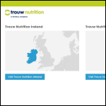 Screen shot of the Trouw Nutrition website.