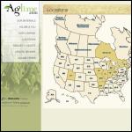 Screen shot of the Aglime website.