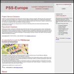 Screen shot of the PSS-Europe website.